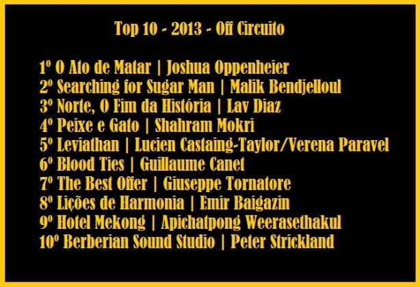 top 10 2013 off Circuito